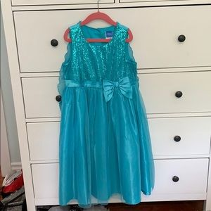 Disney Elsa inspired dress with removable cape.